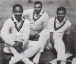 (from left to right) Frank Worrell, Clyde Walcott and Everton Weekes.